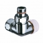 TRV series B corner left hand flow - chrome