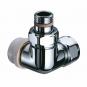 TRV series B corner right hand flow - chrome