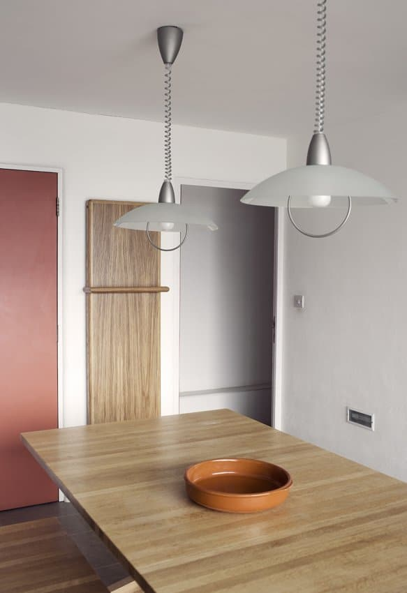 Large wooden radiator with towel rail