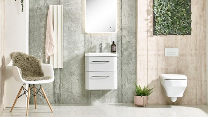 White Gordon Electric Radiator being used in bathroom