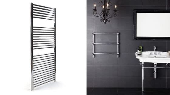 Small and large towel rails